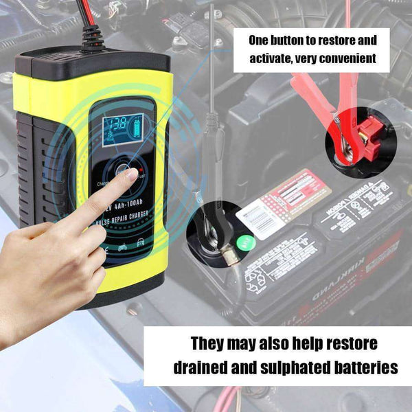 12V 6A Full Automatic Car Battery Charger,Car Accessoires,Uunoshopping