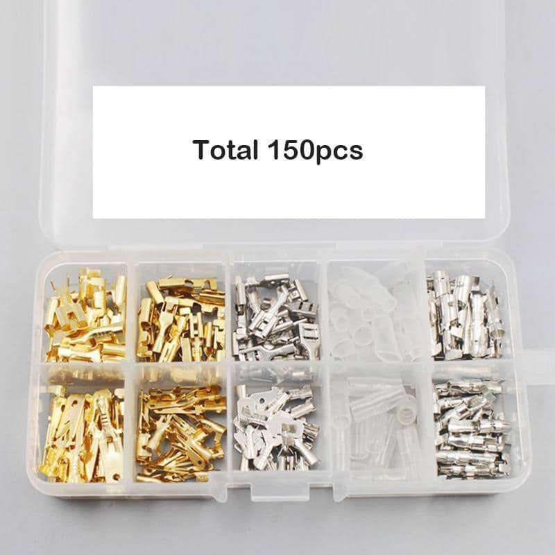 150pcs Male Female Car Spade Connector Splice Crimp Wire Terminals,Motorcycle Accessoires & Parts,Uunoshopping