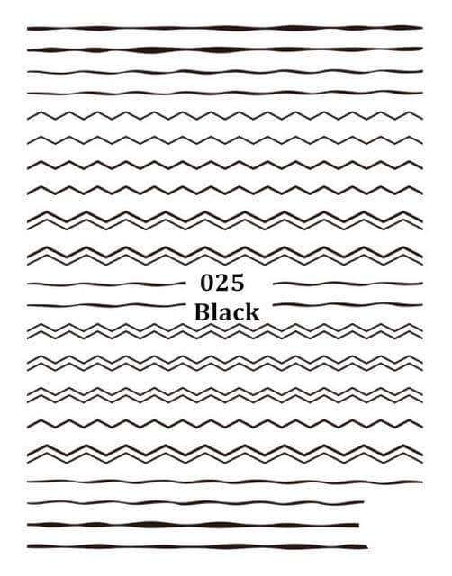 1pc Curve Stripe Lines Nails Stickers,nails tools,Uunoshopping