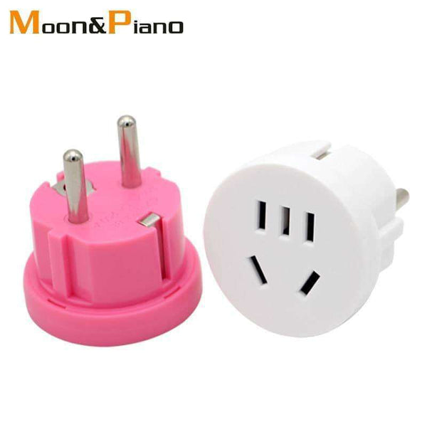 1PC US AU To EU Plug Adapter,Outdoor,Uunoshopping