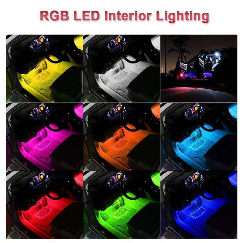 4pcs Car RGB LED Strip Light LED Strip,Car Accessoires,Uunoshopping