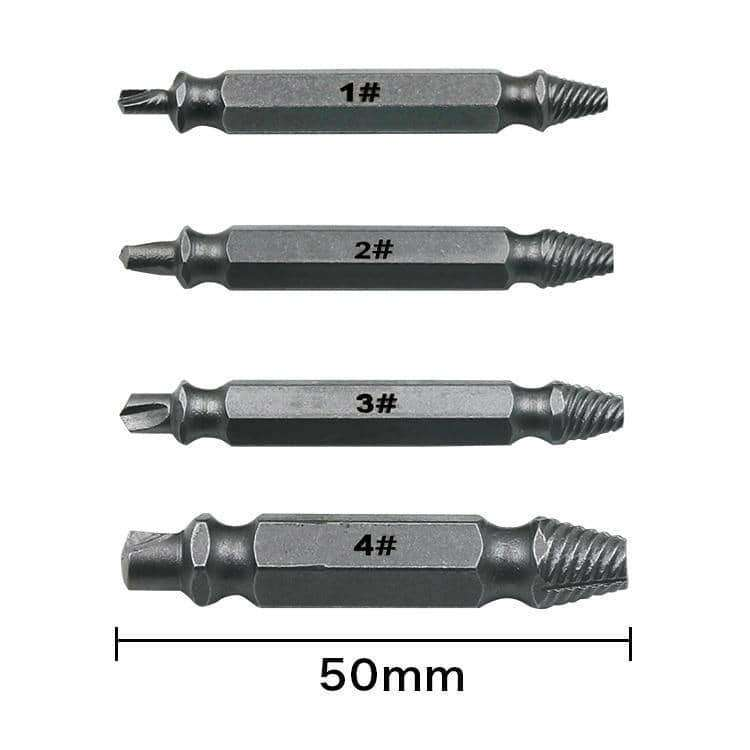 4pcs Damaged Screw Extractor Drill Bits,,Uunoshopping