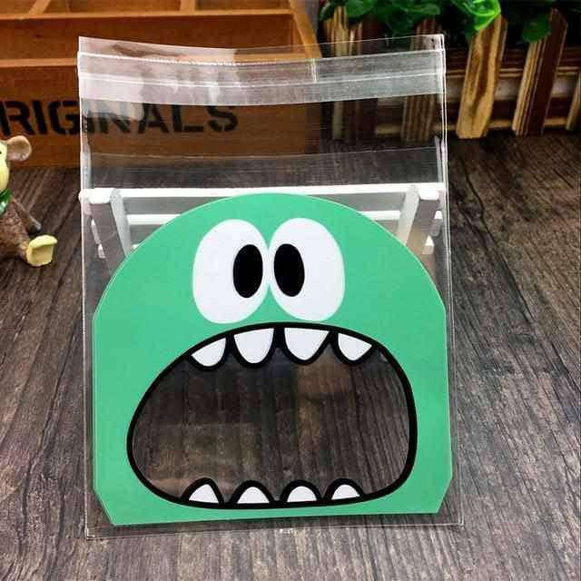 50Pcs Cute Big Teech Mouth Monster Plastic Bag,Home,Uunoshopping