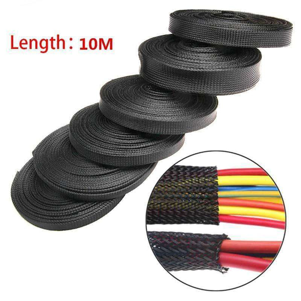 5/10M Black Insulated Braid Sleeving,tools electronics,Uunoshopping