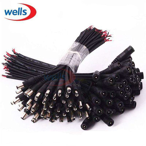 5/10pcs 5.5x2.1 Plug DC male or Female  Cable Wire Connector,Electronic Components & Supplies,Uunoshopping