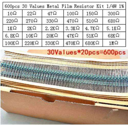 600pcs/lot resistor pack set,Electronic Components & Supplies,Uunoshopping