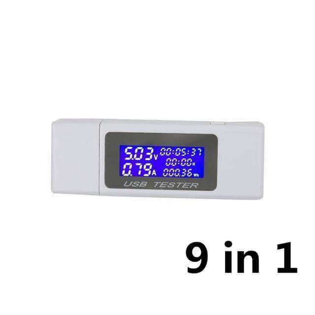 9/10 in 1 DC USB Tester Current 4-30V Voltage Meter,tools electronics,Uunoshopping