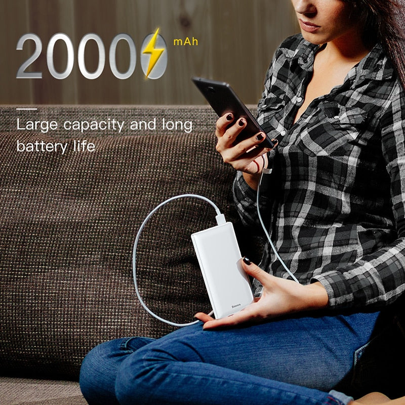 20000mAh Power Bank Fast Charging,Phone Chargers & USB Cable,Uunoshopping