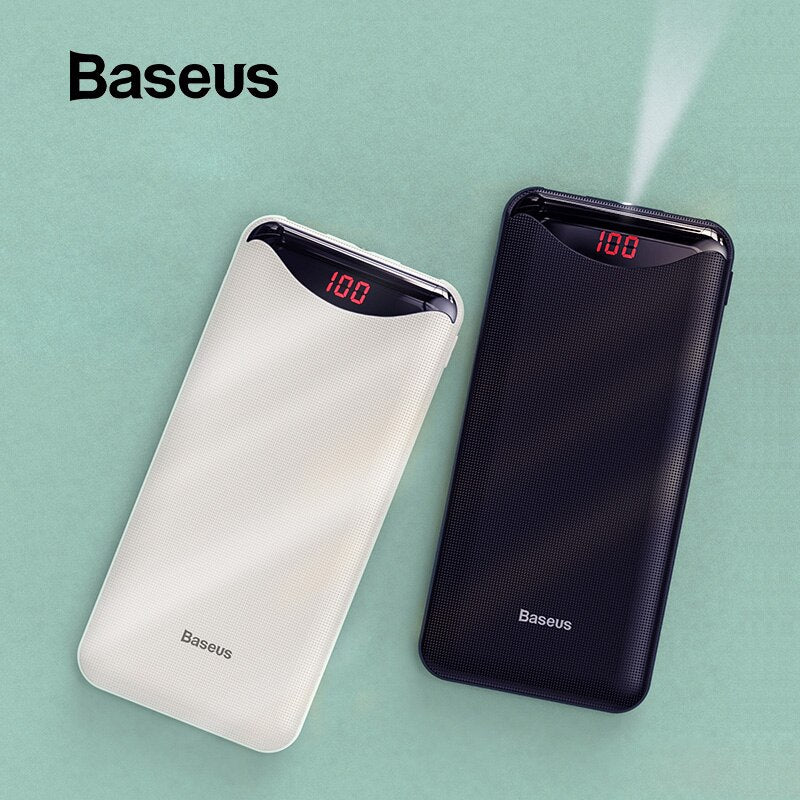 10000mAh Power Bank Dual USB with Flashlight,Phone Chargers & USB Cable,Uunoshopping