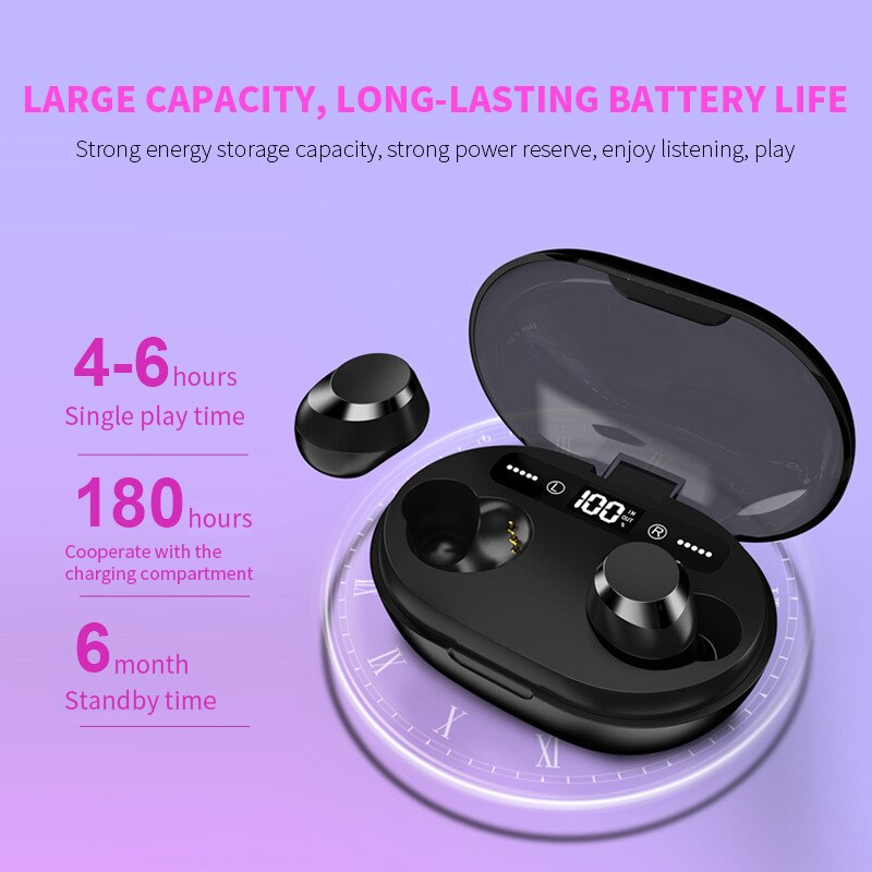 Wireless Earphone Bluetooth V5.0 3000 MAh Charging  Box,earphone,Uunoshopping