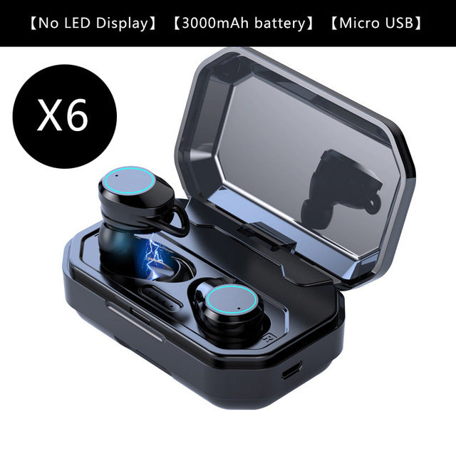 Wireless Touch Earbuds 3300mAh Battery Charge Case,earphone,Uunoshopping