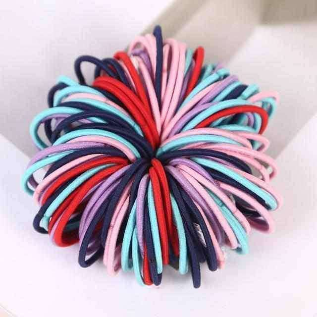 100pcs/lot 3CM Ponytail Hair Holder,Hair Care & Styling,Uunoshopping