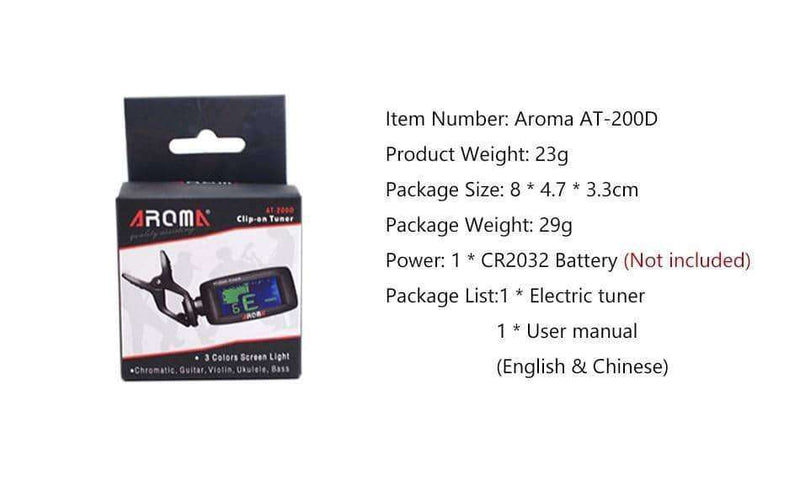 Aroma AT-200D High Quality Clip On Guitar Tuner,sports,Uunoshopping