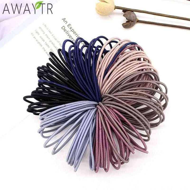 50pcs/Set 5CM Hair Accessories Rubber,Hair Care & Styling,Uunoshopping