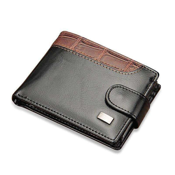 Leather Vintage Hasp Small Wallet Men,Wallets & Holders,Uunoshopping