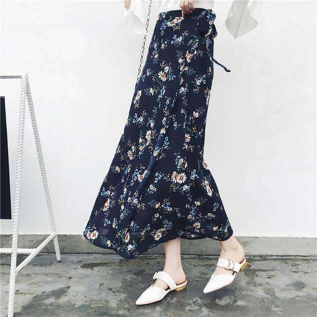 Bohemian High Waist Floral Print Summer Skirts,Clothing men,women,Uunoshopping
