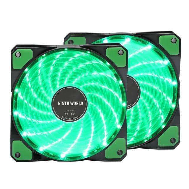 Computer 16dB Ultra Silent 15 LEDs Case Fan Heatsink Cooler Cooling,Other Computer Products,Uunoshopping