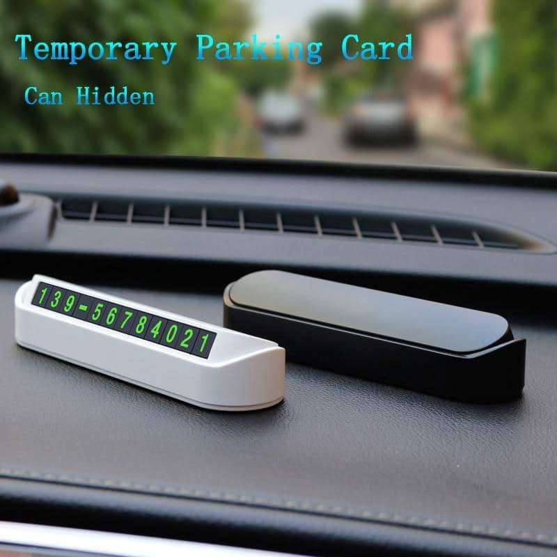 Car Temporary Parking Card Phone Number,Car Accessoires,Uunoshopping