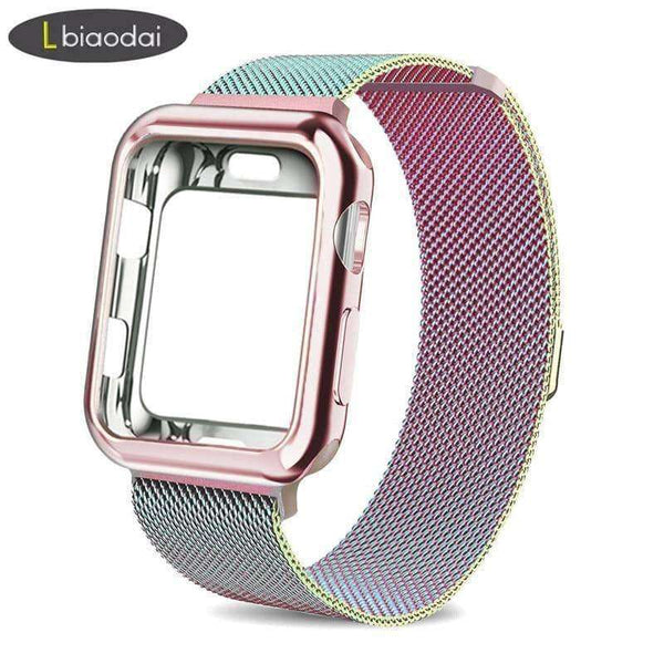 Case+watch strap for Apple Watch 5 4 3 2 1,watch accessories,Uunoshopping