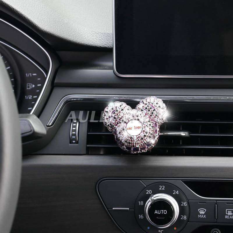 Custom Car Logo perfume Diamond Air conditioner Outlet clip decoration Car Air Freshener,Car Accessoires,Uunoshopping