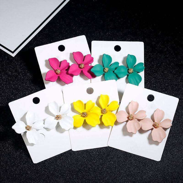 Cute Flower Stud Earrings,Earrings,Uunoshopping