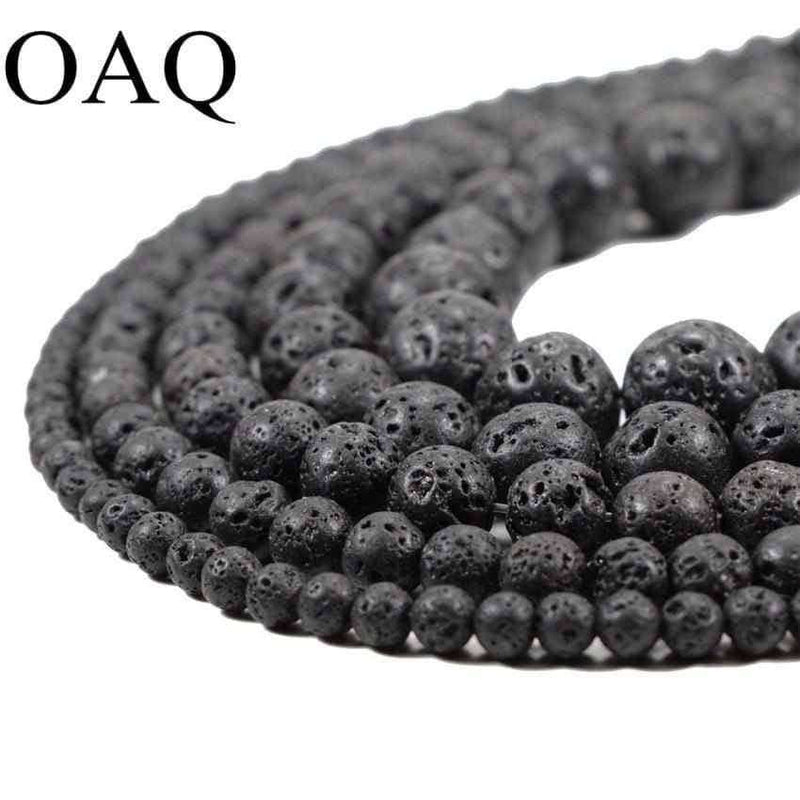 Black Volcanic Lava Beads Lava Stone Beads,Jewelry Accessorie,Uunoshopping
