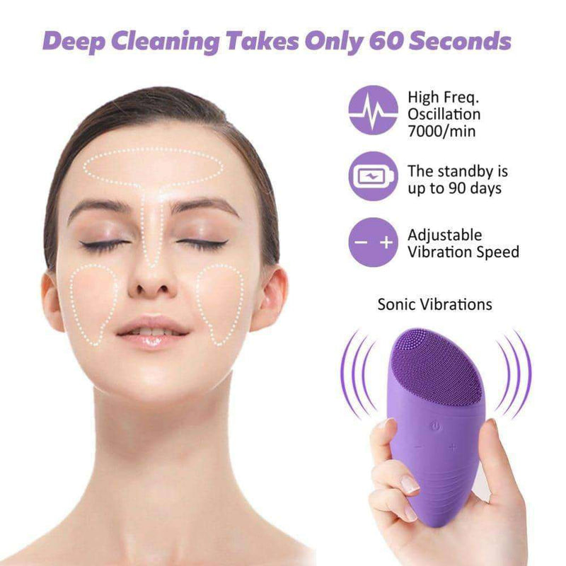 Electric Silicone Facial Cleansing Brush,Beauty1,Uunoshopping