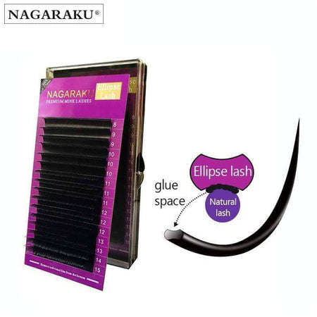 Ellipse Eyelashes Mix 8-15mm,Beauty1,Uunoshopping