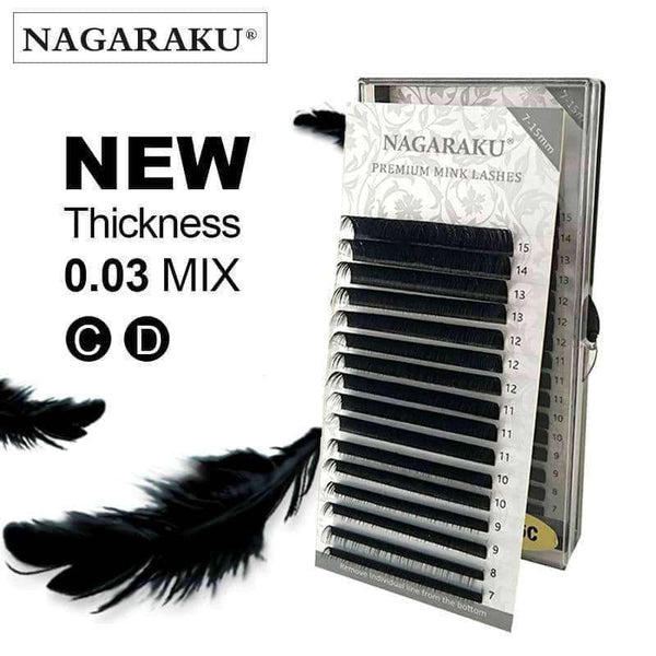 Eyelash Cilios 0.03mm C D 16 Rows/case 7-15 mix,Beauty1,Uunoshopping