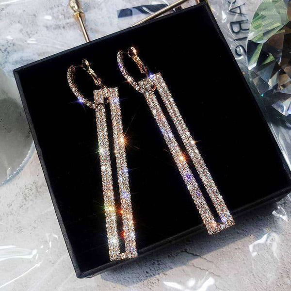 FYUAN Fashion Long Geometric Drop Earrings,Earrings,Uunoshopping