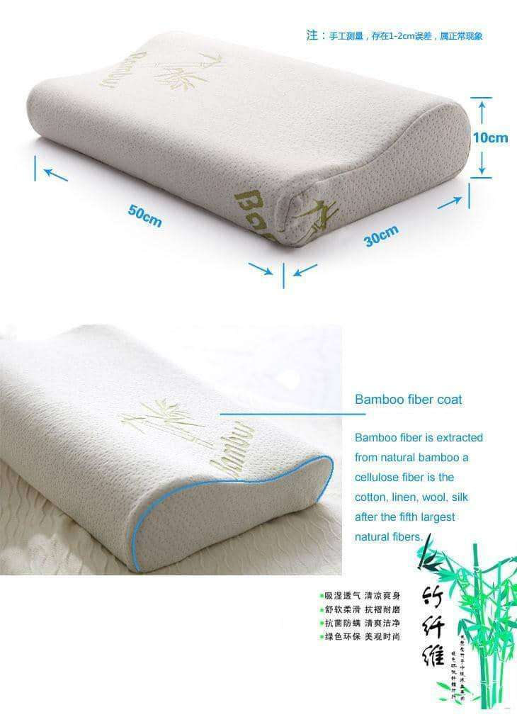 Bamboo Memory Foam Orthopedic Pillow,Health Care,Uunoshopping