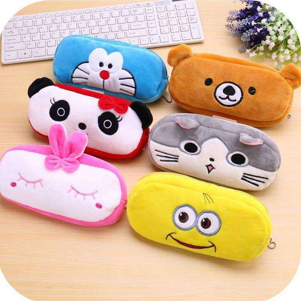 Kawaii Animal Pencil case Cartoon panda bear fruit pen bag box,Office,Uunoshopping