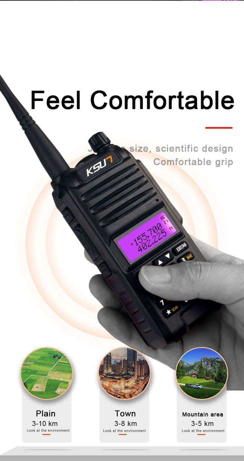 KSUN KS-UV1D Walkie Talkie,Outdoor,Uunoshopping
