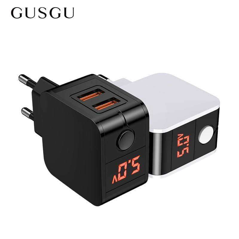LED Display Dual Fast Phone Charger,Phone Accessories,Uunoshopping