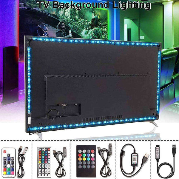 LED Neon RGB Tape Remote TV Background Lighting,Home,Uunoshopping