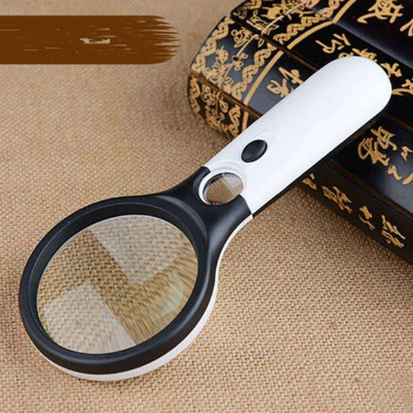 Microscope Magnifying Glass Aid Reading With 3 LED,Office,Uunoshopping