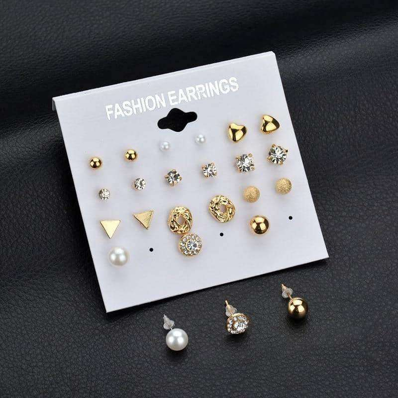12 pair/set Earrings,Earrings,Uunoshopping