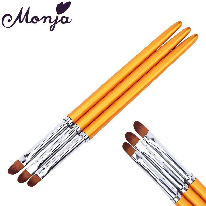 Monja 3pcs Nail Art Brush,nails tools,Uunoshopping