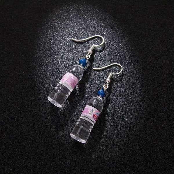 Personalized mineral water bottles earring beer bottles,Earrings,Uunoshopping