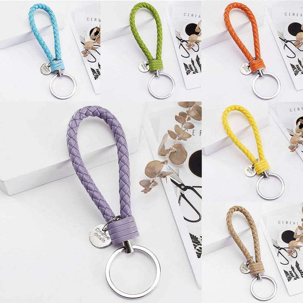 PU Leather Braided Woven Rope bts keychain,Office,Uunoshopping