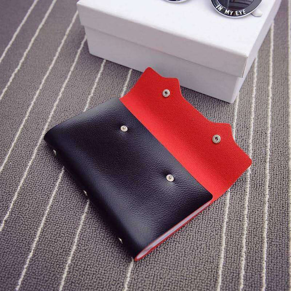 PURDORED 1 pc 108 Slots Card Holder PU Leather Business Card Case,Wallets & Holders,Uunoshopping