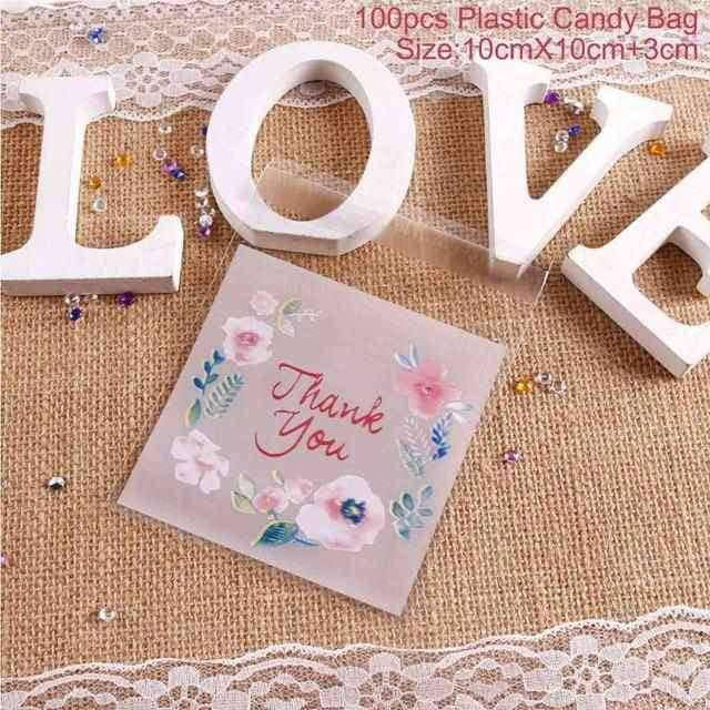 100pcs/60pcs Transparent Plastic Bag,,Uunoshopping