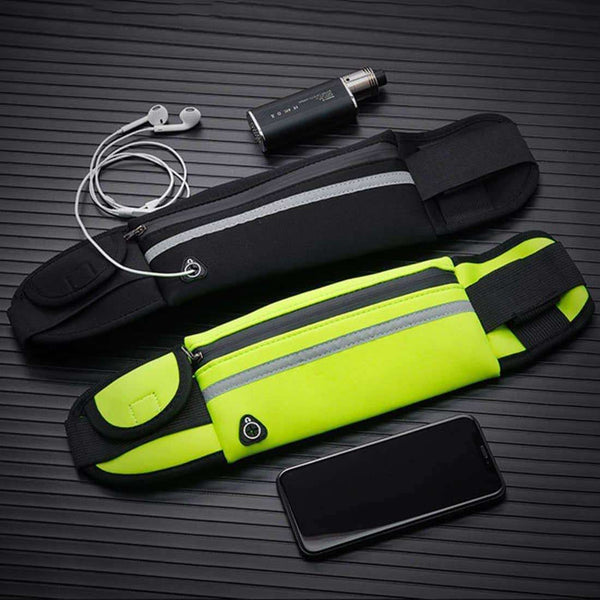 Running Waist Bag Waterproof Phone Container Jogging Hiking Belt Belly Bags,sports,Uunoshopping