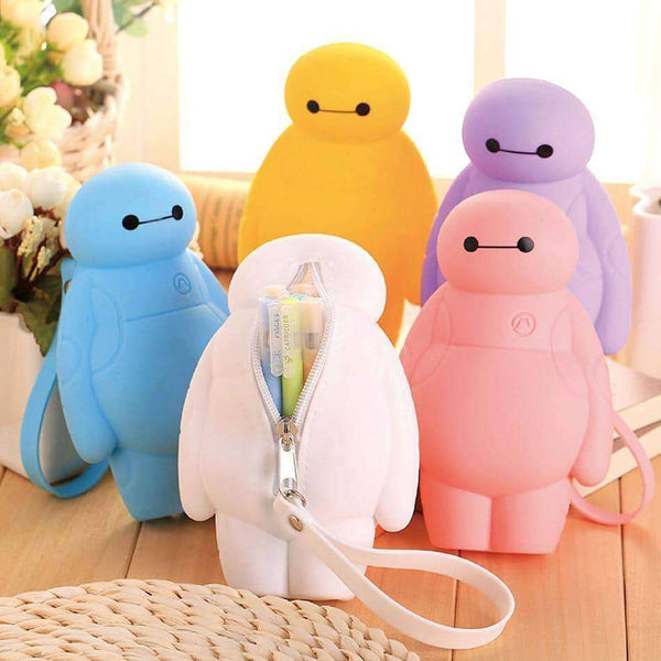 Silicone Big Hero 6 Baymax Kawaii Pencil Cases,Office,Uunoshopping