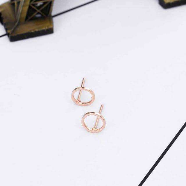 Simple Gold Silver Black Stud Earring,Earrings,Uunoshopping