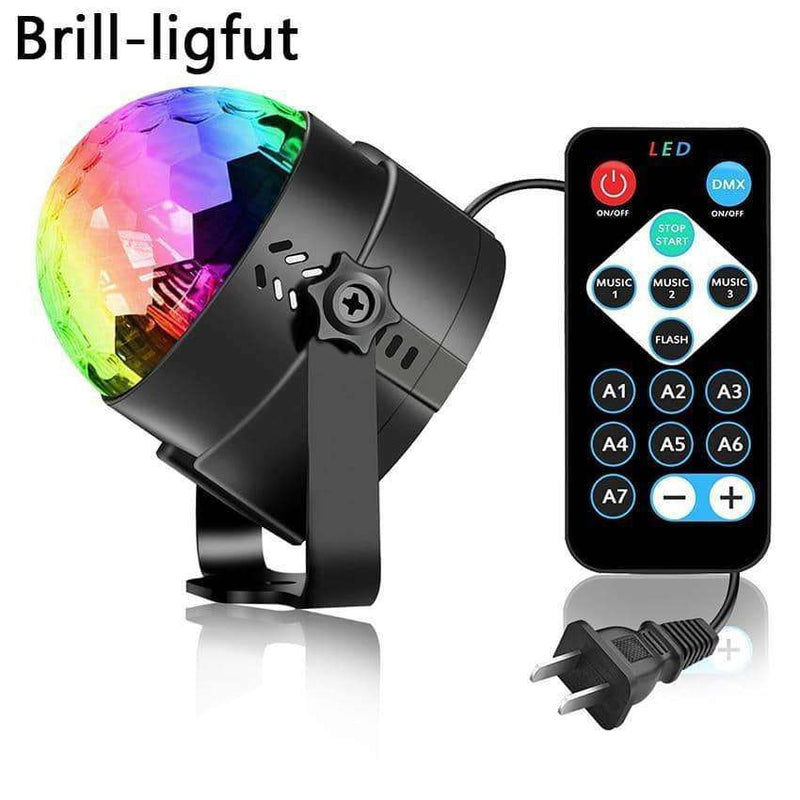 Sound Activated Rotating Disco Ball Party Lights,Light & Lighting,Uunoshopping