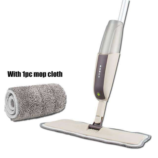 Spray Floor Mop with Reusable Microfiber Pads 360 Degree Handle Mop,Home,Uunoshopping