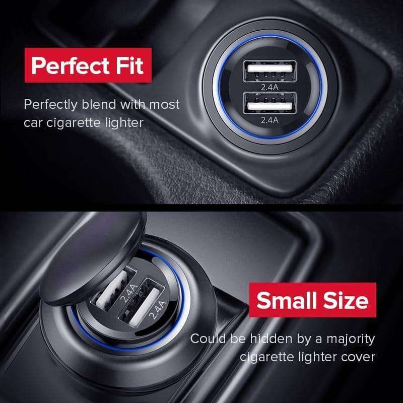 Mini USB Car Charger,Phone Accessories,Uunoshopping