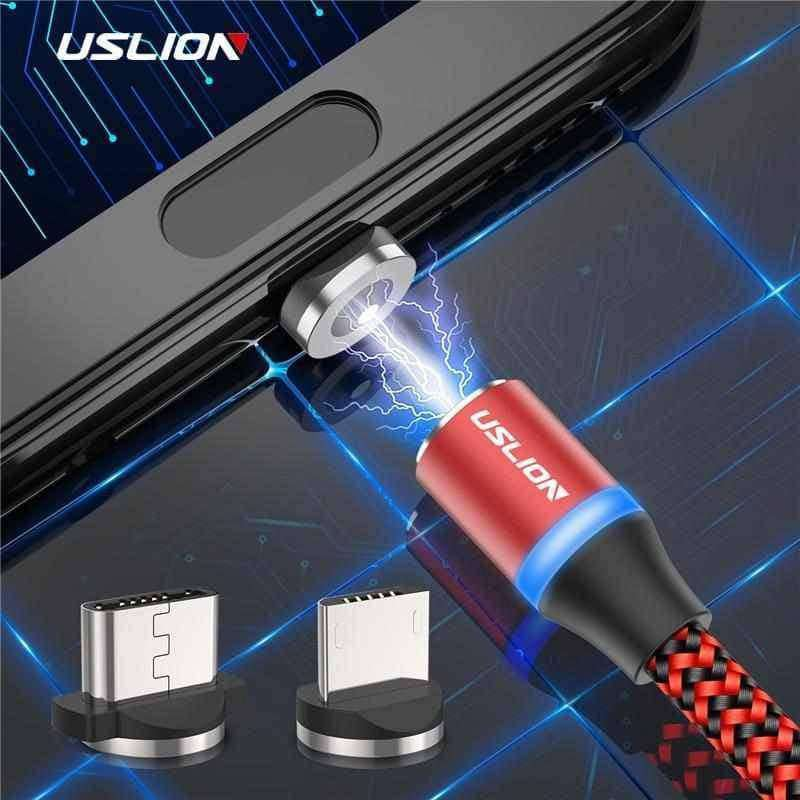 USLION LED Magnetic USB Cable,Phone Accessories,Uunoshopping