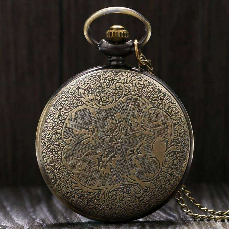 Vikings Bronze Quartz Pocket Watch,Clock,Uunoshopping